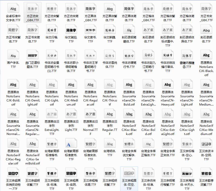 分享121款商用字体及日文字体